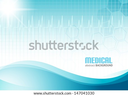 Abstract Medical Background - stock vector