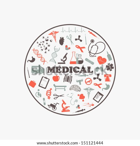 Abstract medical background. - stock vector
