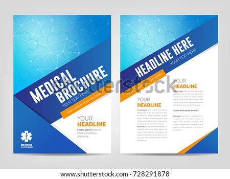 Abstract Medical Background   Flyer Or Brochure Template. Can Be Used As  Book Cover For  Medical Brochures Templates