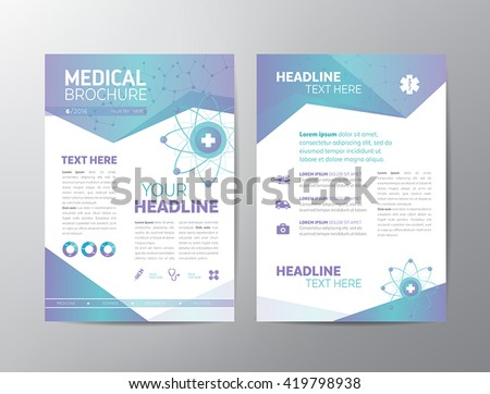 Abstract medical background - flyer template. Can be used as book cover for any printed or online graphic materials about healthcare and medicine.
