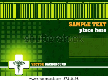 Abstract medical background - vector illustration - stock vector