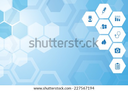 Abstract Medical  blue background - stock vector
