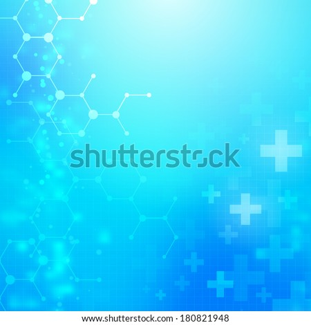 Abstract medical technology vector background layered stock vector