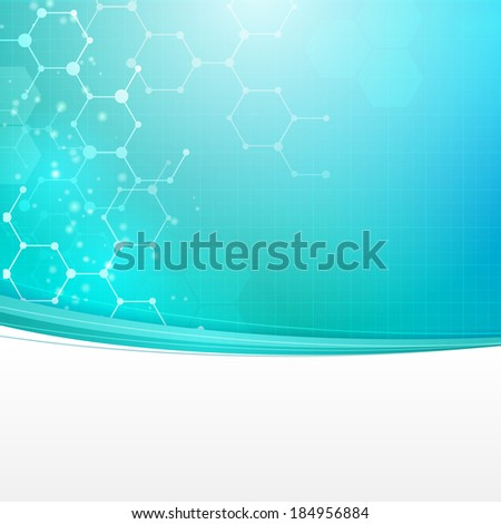 Abstract medical technology vector background with place for text. layered. - stock vector