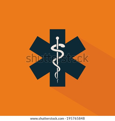 abstract medical tool on a special background - stock vector