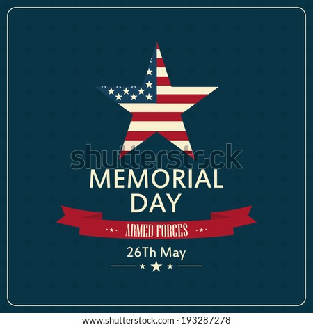 abstract memorial day background with special objects - stock vector