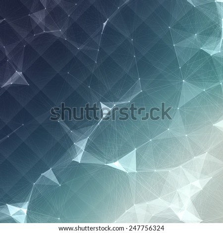 Abstract Mesh Background with Circles, Lines and Shapes | EPS10 Design Layout for Your Business - stock vector