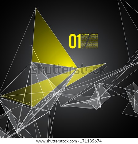 Abstract mesh background with circles, lines and shapes | EPS10 Futuristic Design - stock vector