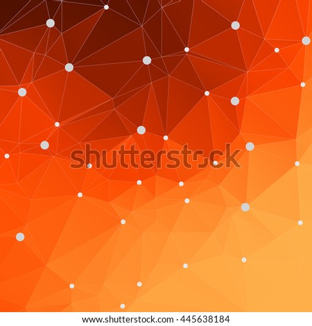 Abstract mesh polygonal background with connected lines and dots, Illustration vector. EPS10 - stock vector