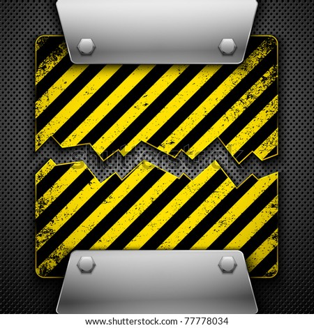 Abstract metal background. Vector illustration. - stock vector
