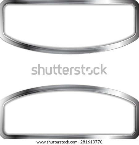 Abstract metal frame background. Vector design