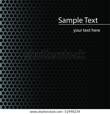 Abstract metal grid background - stock vector