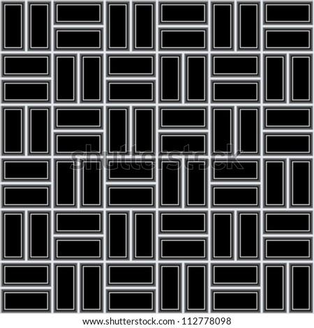 Abstract metal texture, seamless vector lattice pattern - stock vector