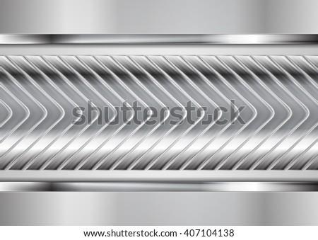 Abstract metallic arrows technology design. Vector tech background - stock vector