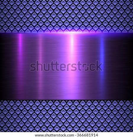 Abstract metallic background, shiny metal texture vector illustration. - stock vector