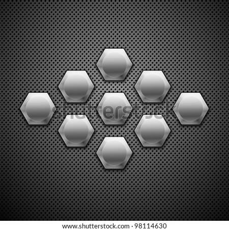 Abstract metallic background. Vector illustration. - stock vector