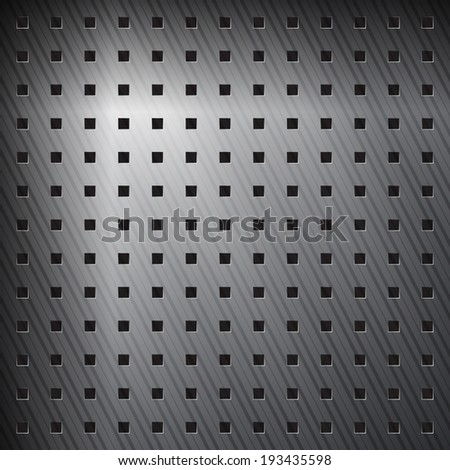 abstract metallic background with aluminum striped surface - stock vector