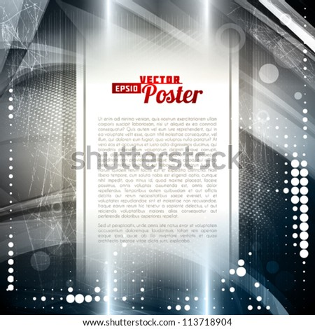 Abstract metallic retro background. Vector - stock vector