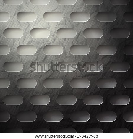 abstract metallic wallpaper with grunge surface - stock vector