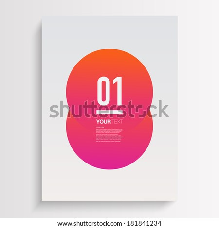 Abstract minimal A4 / A3 format poster design with your text  Eps 10 stock vector illustration  - stock vector
