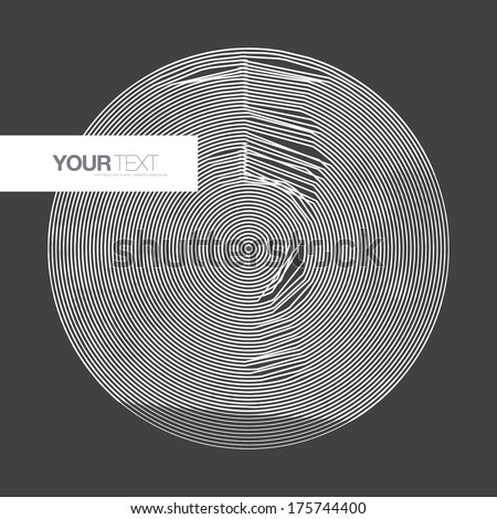 Abstract minimal circle design with your text  Eps 10 stock vector illustration  - stock vector