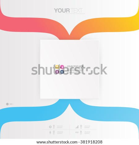 Abstract minimal colorful design with your text  Eps 10 stock vector illustration  - stock vector
