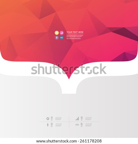 Abstract minimal design with your text and web icons Eps 10 stock vector illustration   - stock vector