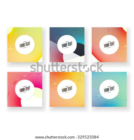 Abstract minimal geometric lines background wallpaper with round text box design set  Eps 10 stock vector illustration