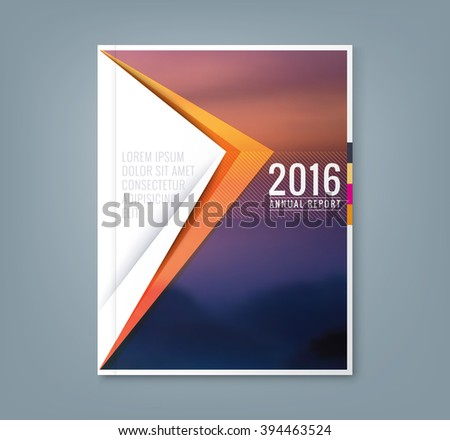 Abstract minimal geometric triangle shapes design background for business annual report book cover brochure flyer poster - stock vector