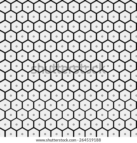 Abstract minimalistic black and white pattern hexagon, black and white, monochrome - stock vector