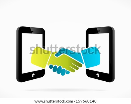 Abstract mobile phone deal concept vector illustration  - stock vector