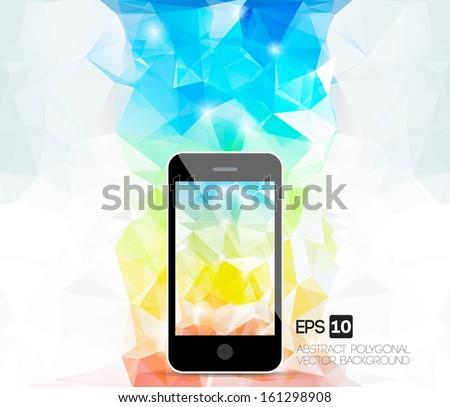 Abstract Mobile wallpaper - stock vector