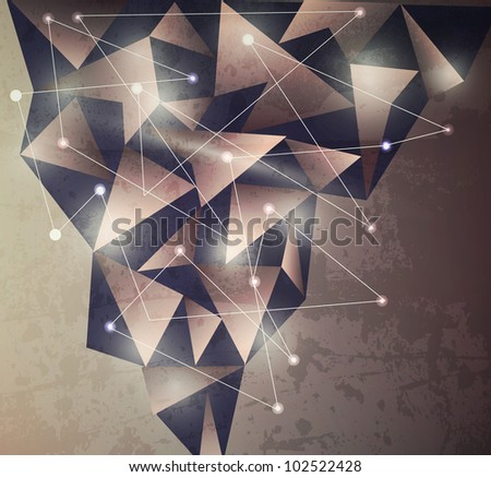 Abstract Modern Background Vector - stock vector