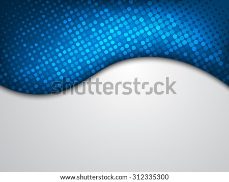 Abstract modern background with blue wave - stock vector