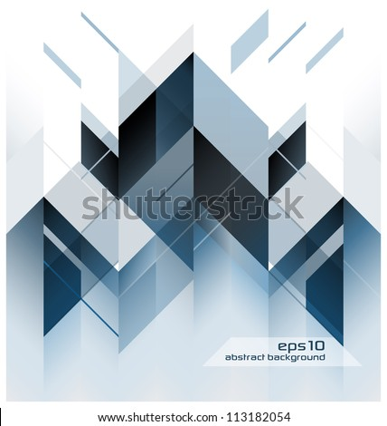 Abstract Modern Background With Geometric Shapes - stock vector
