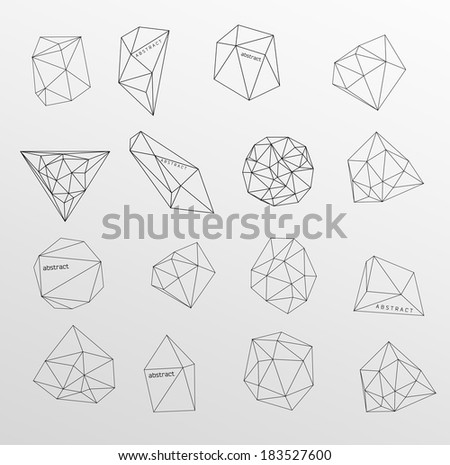 Abstract modern background with polygon - stock vector