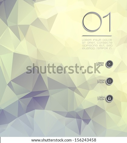 Abstract modern background with polygons/ wallpaper  - stock vector