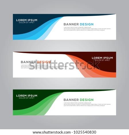 abstract modern banner background design vector stock vector
