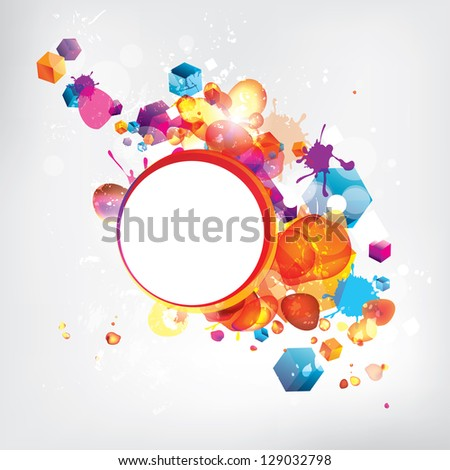 Abstract modern banner with colored background