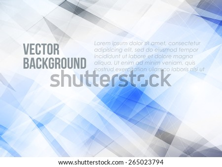 Abstract modern blue and grey color background with lighting effect. Bright cover design template layout for corporate business book, booklet, brochure, poster, flyer. Vector - stock vector