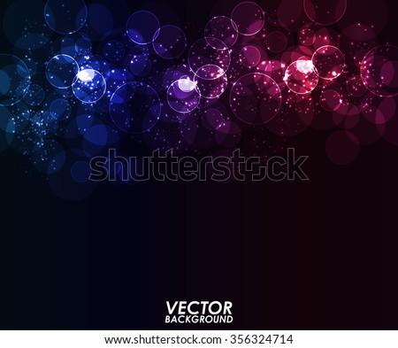 Abstract modern bokeh digital - Vector Background. - stock vector