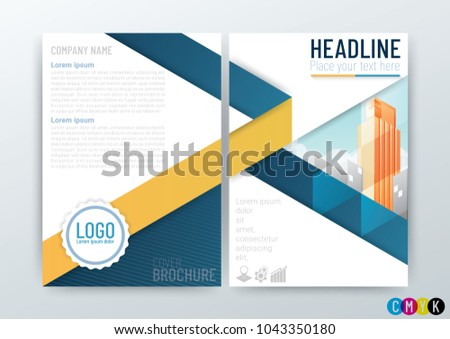 Abstract modern Business Background Design, Brochure Template, Flyer Layout, Annual Report, leaflet in A4 size-Vector Illustration
