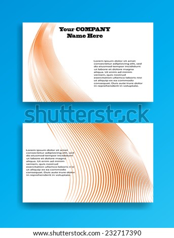 Abstract Modern Business Card Template with Curved Lines . Vector Illustration  - stock vector