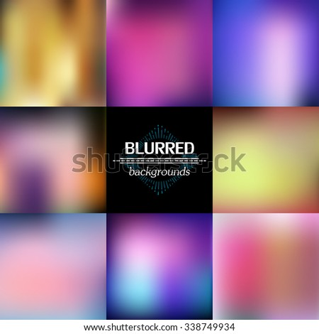 Abstract Modern Concept Vector Blurred Background Set.  - stock vector