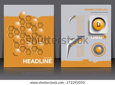 Abstract modern cover / brochure, magazine, flyer design template. Colorful / with infographics, buttons and geometric elements. - stock vector