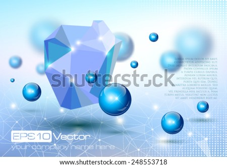 Abstract modern depth of field technology design. Vector illustration - stock vector