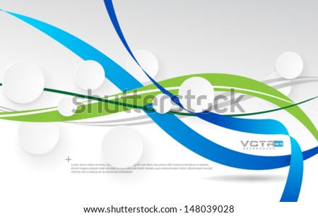 Abstract Modern Design Background - stock vector