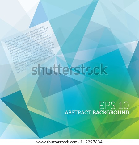 Abstract Modern Design Template With Geometric Shapes - stock vector