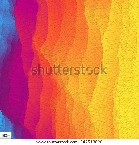 Abstract Modern Geometric Background. Polygonal Mosaic Illustration. Can Be Used For Marketing, Website, Print And Presentation. - stock vector