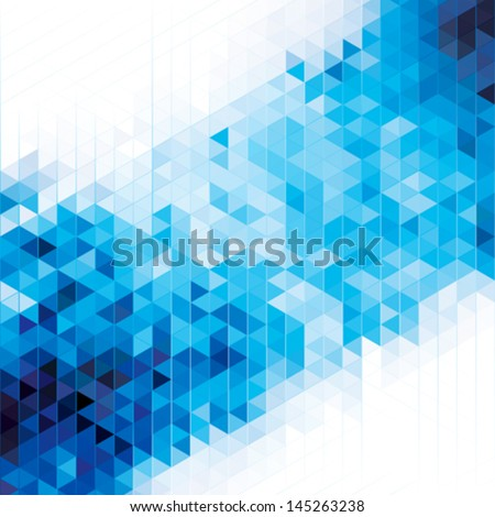 Abstract modern geometric blue background. - stock vector